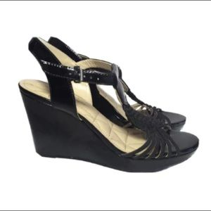 Adrienne Vittadini AV Cassia strappy wedge shoes